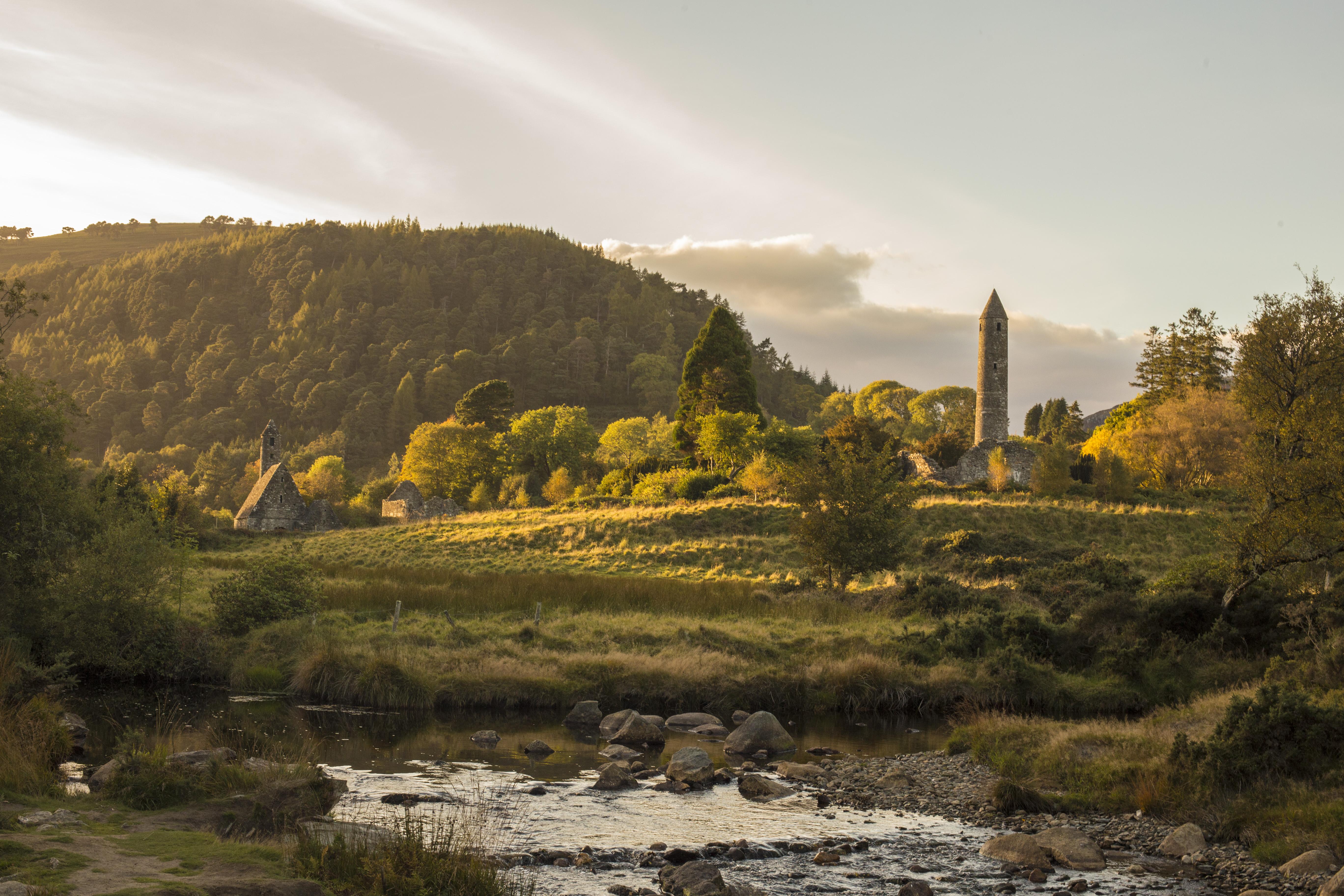 Echt Ierland, Wicklow Mountains, Glendalough, Irland Rundreise