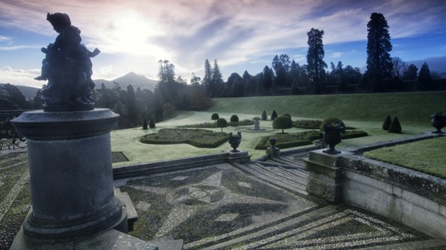 Echt Ierland, Wicklow Mountains, Powerscourt Gardens, Irland Autorundreise