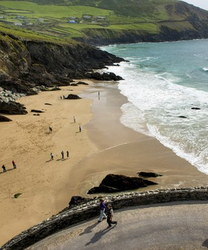 Echt Irland, Cuomeenoole Beach, Dingle Peninsula, Irland Autorundreise