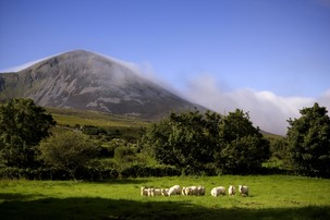 Echt Irland, County Mayo, Croagh Patrick, Irland Reisen